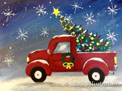 The image for Red Truck (Glitter!) : Christmas Eve Party!!!