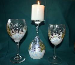The image for SPECIALTY CLASS : Paint On Wine Glasses!