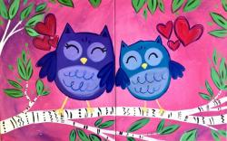 The image for NEW ART - Mommy & Me Owls