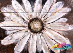 The image for Wood Pallet : Hazy Daisy